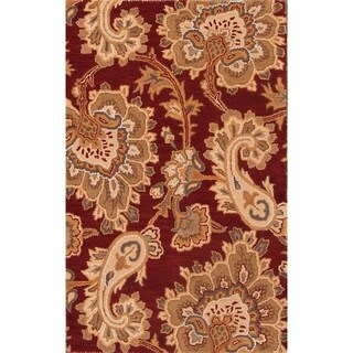 """Hand Tufted Floral Agra Indian Oriental Wool Area Rug Carpet - 5'2"""" x 3'4"""""""