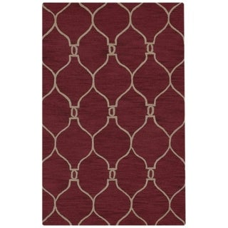 """Copper Grove Guderup Red Moroccan Trellis Hand-tufted Oriental Modern Area Rug - 10'11"""" x 7'10"""""""
