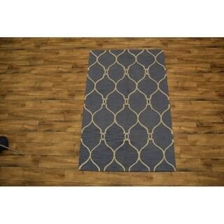 "Moroccan Genuine Wool Trellis Handmade Oriental Area Rug - 8'0"" x 10'0"""