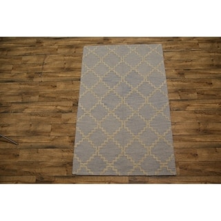 """Oriental Hand Tufted Moroccan Indian Traditional Trellis Area Rug - 7'11"""" x 5'"""