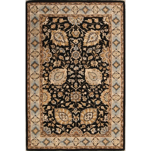 """Hand Tufted Agra Classical Persian Style Oriental Floral Area Rug - 8'0"""" x 5'0"""""""