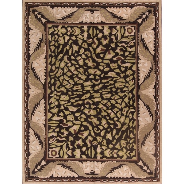 "Hand Tufted Agra Oushak Animal Leopard Print Rug Wool - 9'0"" x 12'0"""
