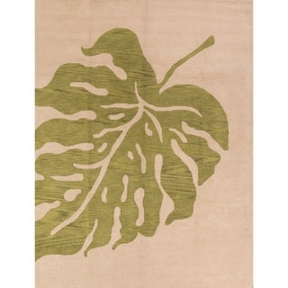 Hand Tufted Wool Oushak Agra Indian Oriental Floral Area Rug - 12' x 9'