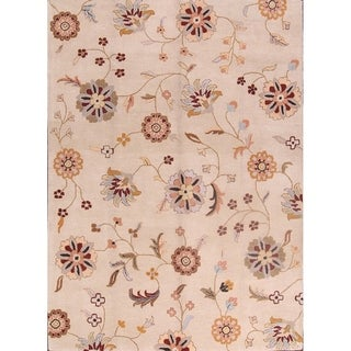 """Hand Made Agra Oushak Traditional Oriental Floral Area Rug - 8'0"""" x 11'0"""""""
