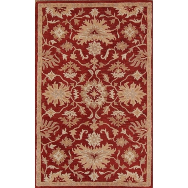 "All Over Floral Tabriz Wool Agra Hand Tufted Oriental Area Rug - 7'10"" x 4'11"""