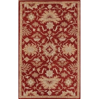 """All Over Floral Tabriz Wool Agra Hand Tufted Oriental Area Rug - 7'10"""" x 4'11"""""""