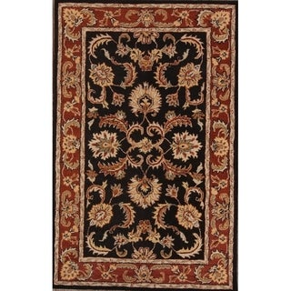 "Copper Grove Kuressaare Floral Hand-knotted Wool Heirloom Item Area Rug - 8'0"" x 11'0"""