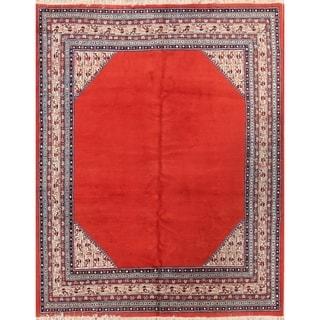 "Vintage Handmade Traditional Oriental Botemir Mahal Persian Area Rug - 8'11"" x 7'2"""