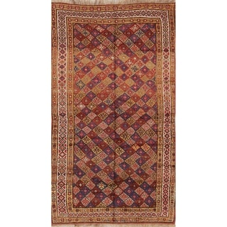 "Antique Kazak Caucasian Russian Traditional Handmade Oriental Area Rug - 8'1"" x 4'9"""