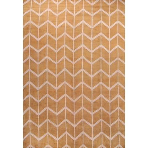 "Classical Moroccan Handmade Oriental Area Rug Yellow - 10'0"" x 14'0"""
