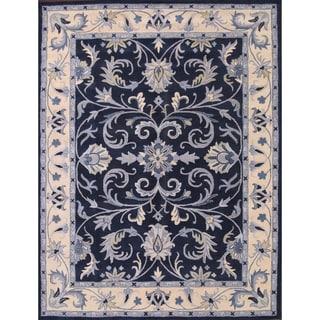 Handmade Wool Blue Agra Indian Oriental Area Rug