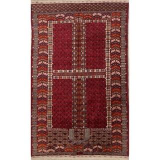 "Vintage Kazak Russian Traditional Hand Made Oriental Area Rug - 5'9"" x 3'8"""