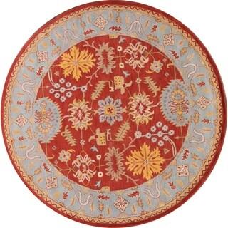 "Gracewood Hollow Kavuma Handmade Floral Wool Round Rug - 9'11"" round"