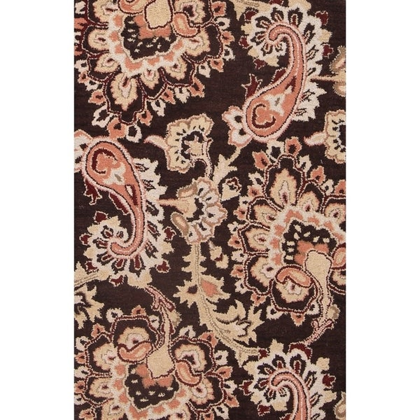 "Copper Grove Herning Handmade Wool Traditional Agra Indian Oriental Paisley Area Rug - 3'3"" x 5'3"""