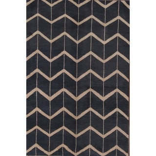 "Strick & Bolton Fryatt Geometric Handmade Area Rug - 5'4"" x 8'0"""