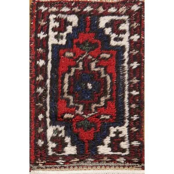 """Indo Heriz Indian Traditional Hand Knotted Oriental Area Rug - 1'11"""" x 1'3"""""""