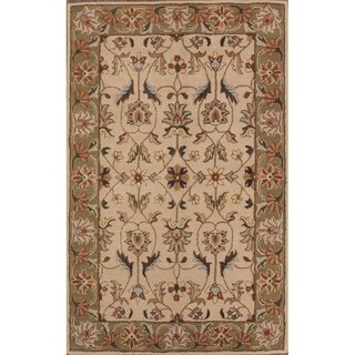"Copper Grove Lagoudera All-over Floral Kashan Agra Hand Tufted Oriental Area Rug - 7'10"" x 4'11"""