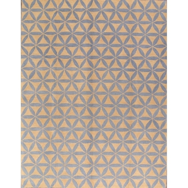 Shop Oushak Floral Tufted Wool Persian Oriental Area Rug: Shop Hand Made Wool Agra Oushak Floral Indian Oriental