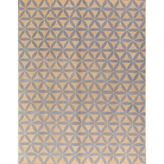 Porch & Den Weiko Hand-made Floral Wool Agra Oushak Area Rug - 10' x 13'