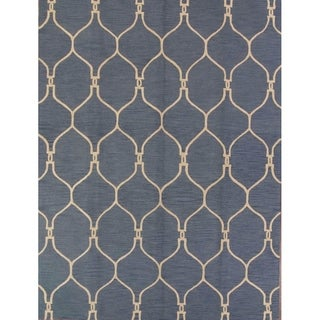 """Gracewood Hollow Nyeko Hand-knotted Trellis Area Rug - 8'0"""" x 10'0"""""""