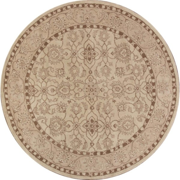 """Copper Grove Mlada Handmade Oushak Indian Oriental All-over Floral Area Rug - 10'0"""" round"""