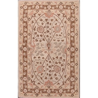 "Gracewood Hollow Sahyan Made Blend Traditional Oushak Floral Rug - 9'0"" x 12'0"""