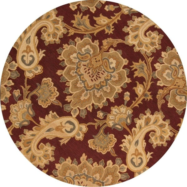 "Gracewood Hollow Abovian Oushak Blend Foyer Oriental Foyer Rug Rug - 8'3"" round"