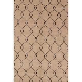 """Porch & Den Carlyle Wool Moroccan Hand-made Oriental Area Rug - 7'10"""" x 4'11"""""""