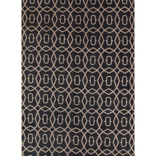 "Copper Grove Logumkloster Moroccan Trellis Gabbeh Hand Knotted Oriental Modern Area Rug - 13'1"" x 9'10"""