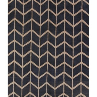 "Strick & Bolton Fryatt Geometric Handmade Area Rug - 9'10"" x 8'3"""