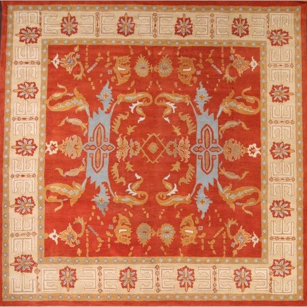 """Copper Grove Fensmark Hand-tufted Wool Geometric Area Rug Eastern Orange - 7'10"""" x 5'0"""""""