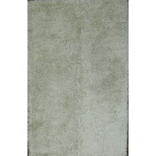 "Porch & Den Chadwick White/Beige Handmade Eastern Shag Area Rug - 8'0"" x 5'1"""