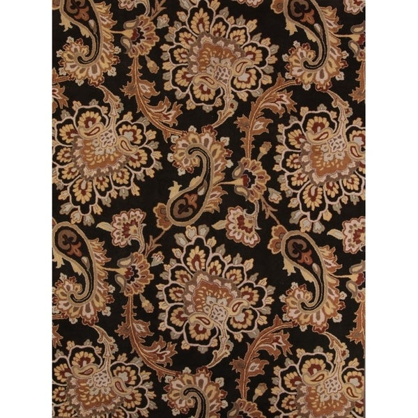 "Porch & Den Andria Hand-made Paisley Wool Agra Oriental Area Rug - 11'10"" x 9'"