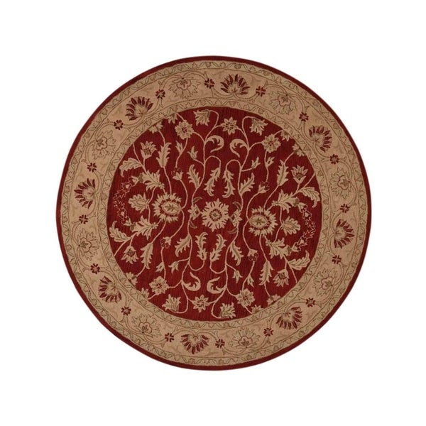 "Copper Grove Aabybro Indian Oriental Hand-tufted Wool Area Rug Floral - 10'0"" round"