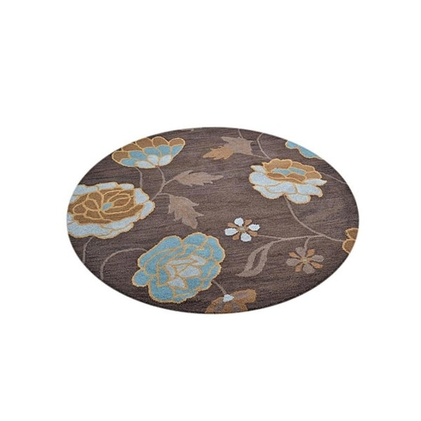 Shop Oushak Floral Tufted Wool Persian Oriental Area Rug: Shop Oushak Traditional Oriental Classical Floral Area Rug