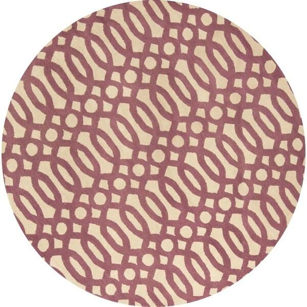 Copper Grove Tollose Moroccan Handmade Trellis Oushak Oriental Rug - 8' Round