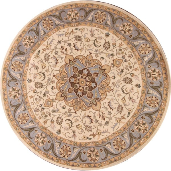 """Gracewood Hollow Mayiga Hand-tufted Floral Round Rug - 10'1"""" round"""