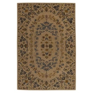 "Copper Grove Otterup Traditional Hand Made Oriental Medallion Area Rug - 5'0"" x 8'0"""