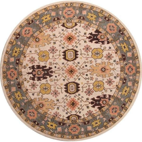 "Copper Grove Rakvere Sultanabad Ziegler Handmade Wool Oriental Floral Area Rug - 10'0"" round"
