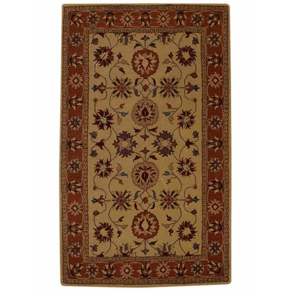 """Copper Grove Stovring Hand-Tufted Floral Oriental Floral Area Rug - 9'0"""" x 11'9"""""""