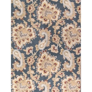 Gracewood Hollow Jarrar Tufted Blend Traditional Traditional Indian Rug - 10' x 13'