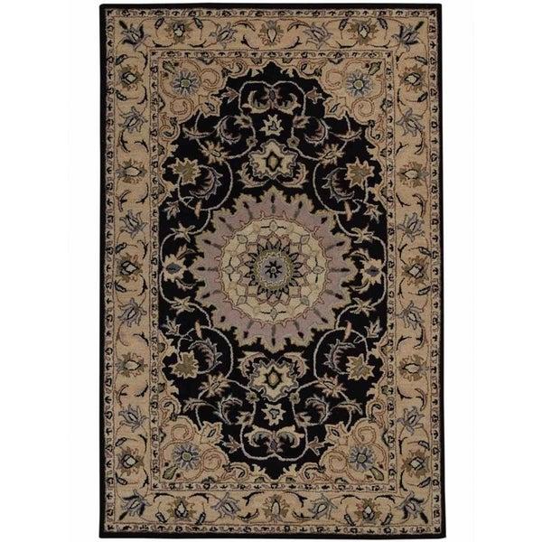 "Gracewood Hollow Mouradian Made Blend Floral Tabriz Floral Oriental Rug - 7'9"" x 5'2"""