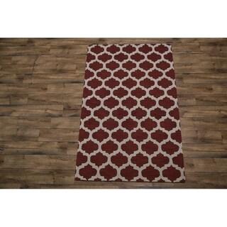 "Gracewood Hollow Zorrilla Hand-tufted Crimson Trellis Area rug - 7'10"" x 5'0"""