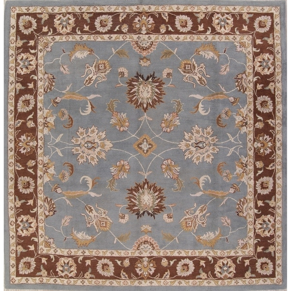 Shop Oushak Floral Tufted Wool Persian Oriental Area Rug: Shop Hand Tufted Oushak Agra Traditional Oriental Floral