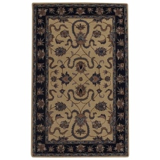 "Copper Grove Prostejov Handmade Oushak Oriental Traditional Floral Area Rug Beige - 8'9"" x 5'9"""