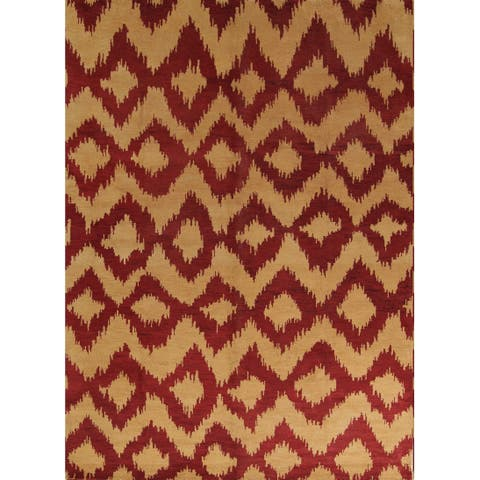 "Porch & Den Abby Orange Geometric Moroccan Trellis Area Rug - 9'10"" x 13'7"""