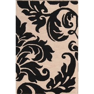 """Porch & Den Abercrombie Hand-made Floral Oushak Oriental Area Rug - 6'0"""" x 4'0"""""""