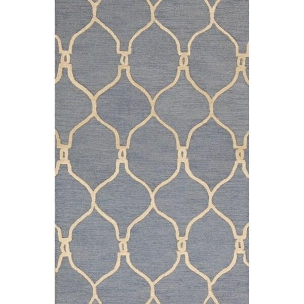 "Copper Grove Harlev Moroccan Hand-tufted Trellis Oushak Oriental Area Rug - 3'4"" x 5'3"""