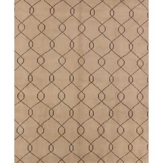 """The Curated Nomad Central Moroccan Hand-knotted Woolen Oriental Geometric Area Rug - 9'10"""" x 8'3"""""""