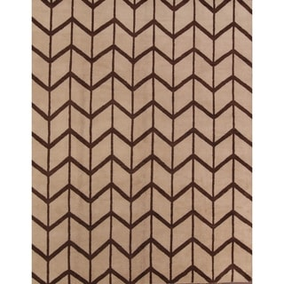 Porch & Den Aldercreek Hand-knotted Wool Moroccan Trellis Area Rug - 9' x 12'